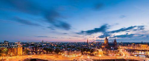 Panorama: Blick auf Amsterdam von John Verbruggen