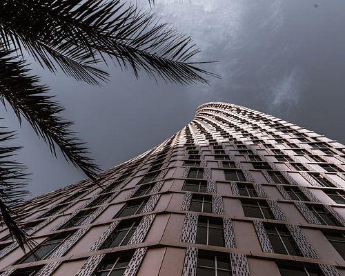 Cayan tower in Dubai van