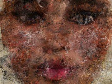 Grunge Porträt Gesicht Frau von Maurice Dawson