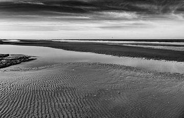 het strand van Rottumeroog, het onbewoonde waddeneiland von Studio de Waay