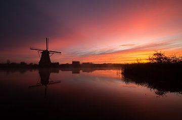 les moulins à vent du lever du soleil