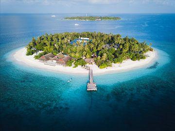 Kuda Bandos tropisch eiland op de Malediven van Michiel Dros