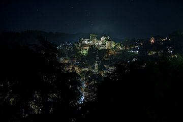 Monschau bei Nacht van Daniel Raab