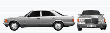 Mercedes-Benz S-Klasse W 126 double view in original color von aRi F. Huber
