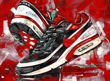 Nike Air Classic BW Varsity Red Malerei 01 von Jos Hoppenbrouwers