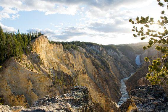 Artist Point, Yellowstone National Park van Johan van Venrooy