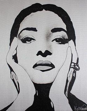 """Maria CALLAS """"Diamanten"""" von Kathleen Artist Fine Art"""