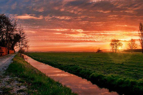 Zonsopgang in Westbroek van Robin Pics