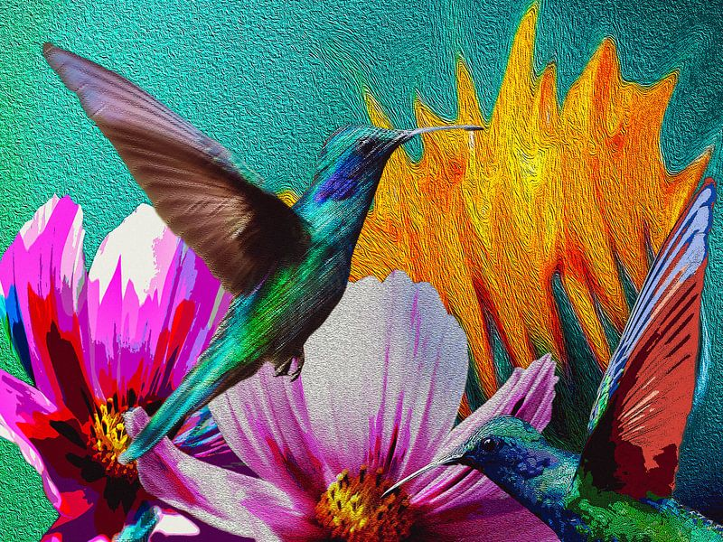 Hummingbirds van novaradalima.art - Ellen Novara-da Lima