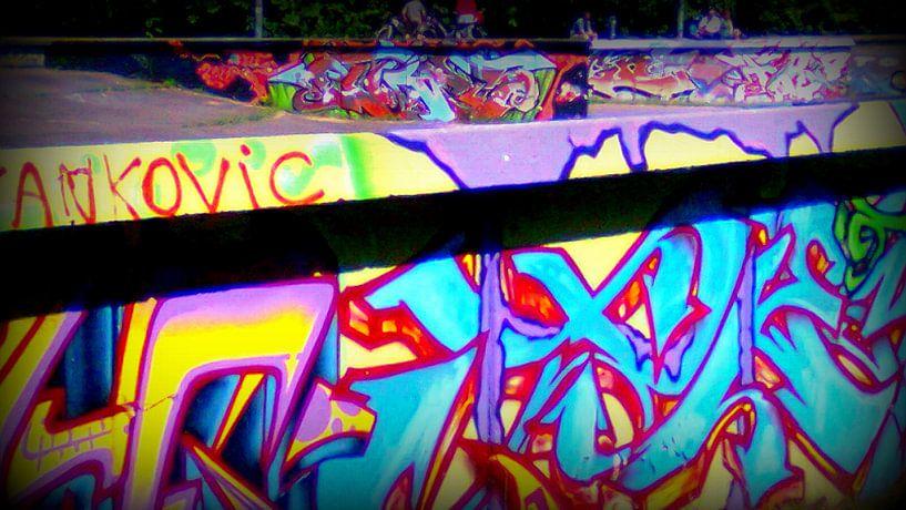 Graffiti skatebaan van Nicky`s Prints