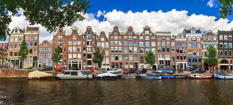 Prinsengracht Amsterdam lineaire panorama van Dennis van de Water