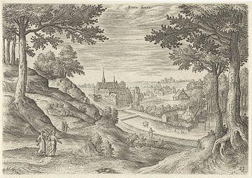 Hans Collaert (I), Ansicht des Klosters von Zevenborren