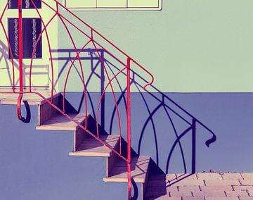 trapje met schaduwlijnen van Corrie Ruijer