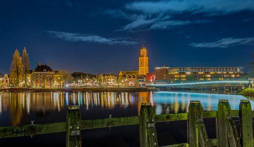 Avondfoto Skyline Zwolle van