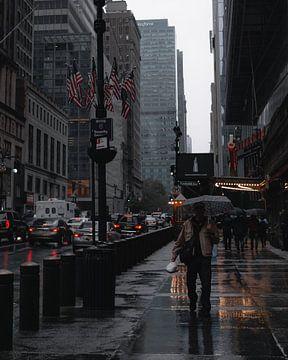 Een regenachtige dag in New York City, USA van Ian Schepers