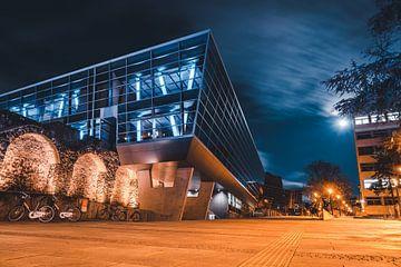 Darmstadtium Architektur bei Nacht von domiphotography