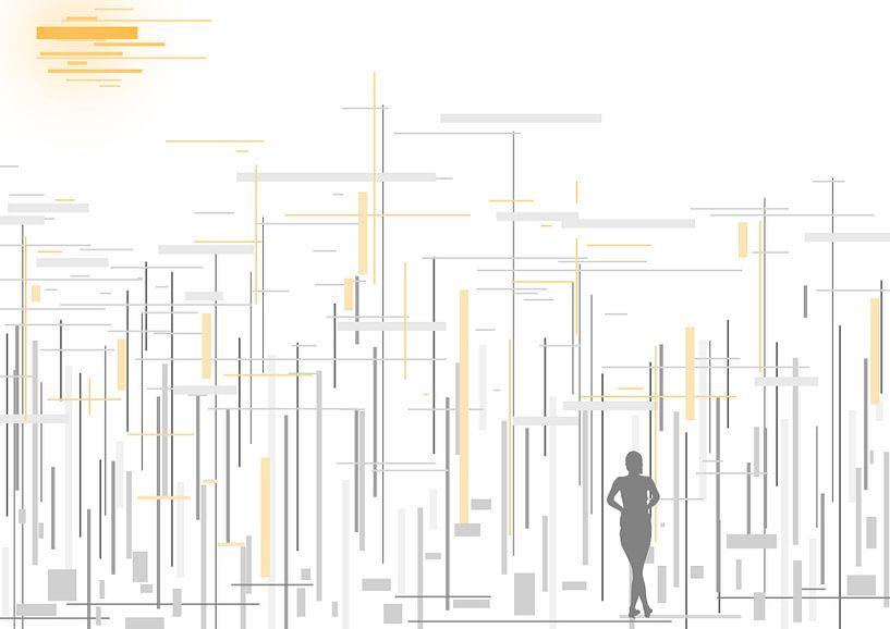 abstract lines #2 van David Berkhoff