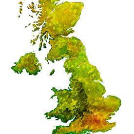 Grande-Bretagne | Carte à l'aquarelle sur Wereldkaarten.Shop