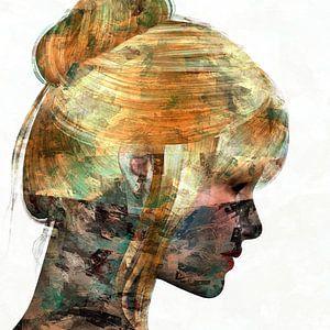Abstraktes Porträt Frau