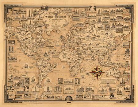 Weltwunder, eine Bildkarte