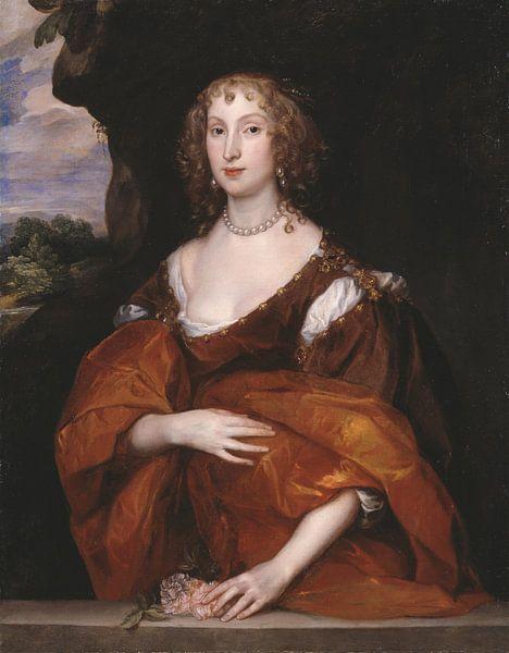 Porträt von Mary Hill, Lady Killigrew, Anthony van Dyck von Meesterlijcke Meesters