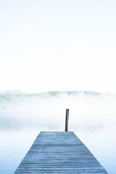 Montée dans le brouillard du matin sur Tomas Grootveld