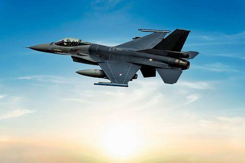 F-16 Fighting Falcon, take off. van