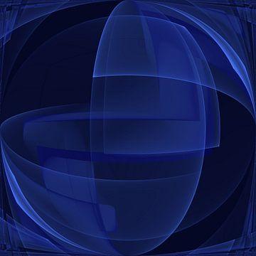Abstrait bleu royal sur Carla van Zomeren