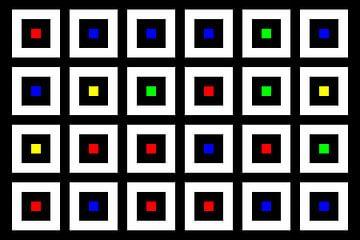 Nested | Center | 06x04 | N=02 | Random #03 | RGBY van Gerhard Haberern