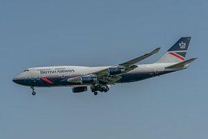 100 jaar British Airways! Deze Boeing 747-400 (G-BNLY) is ter gelegenheid van dit jubileum gespoten