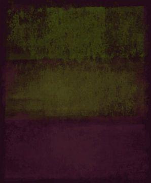 Abstract in diepe oker tinten van Rietje Bulthuis