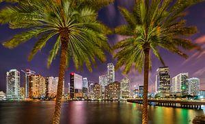 Brickell Skyline at Brickell Bay Miami van Mark den Hartog