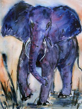 Blauwe Olifant van Christine Nöhmeier