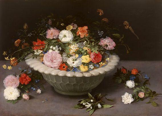 Vaas met bloemen, Jan Brueghel de Oude van Meesterlijcke Meesters
