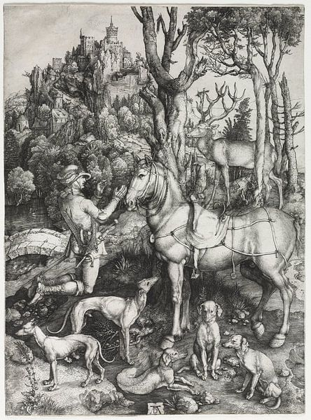 Der heilige Eustachius, Albrecht Dürer von De Canon