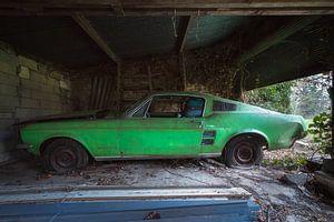Verlaten Ford Mustang.