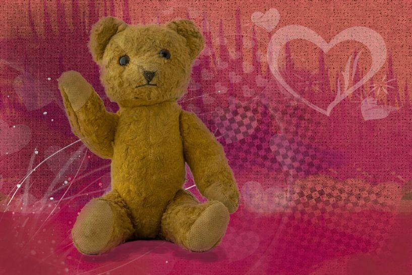 oude teddybeer van Rietje Bulthuis