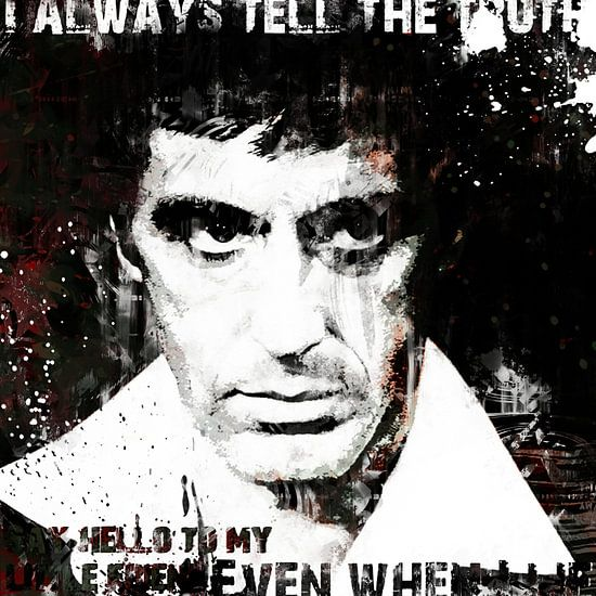 Scarface Al Pacino Pop-Art-Malerei