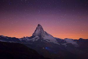Sterren boven de Matterhorn van