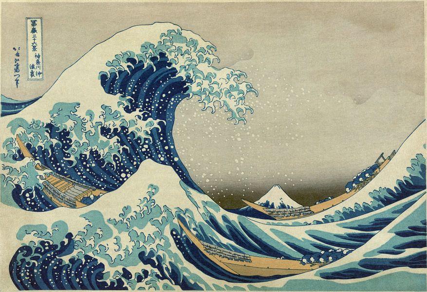 Die große Welle von Kanagawa, Hokusai von Rebel Ontwerp