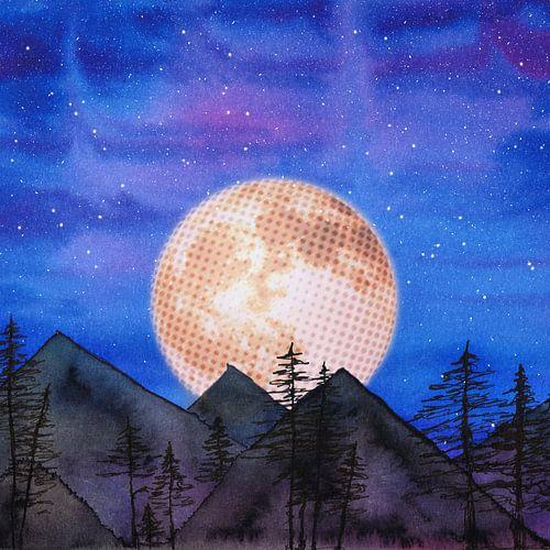 Maan over de bergen