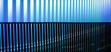 Ritme in blauw-paars von Martijn van Huffelen