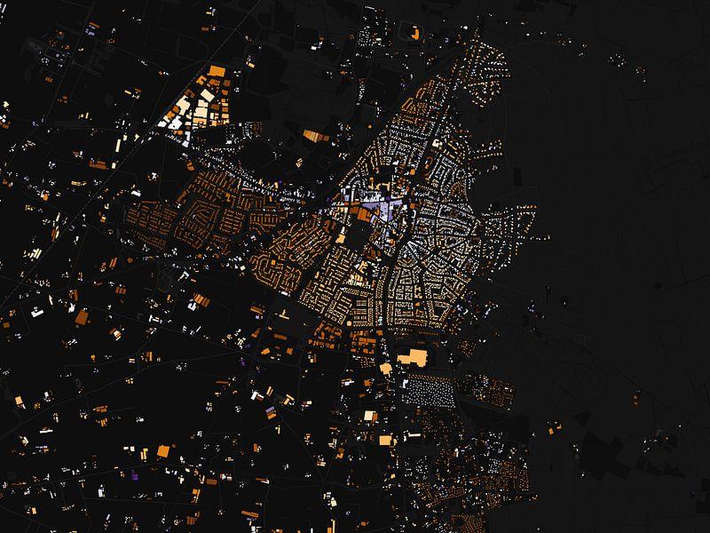 Kaart van Putten abstract van Stef Verdonk