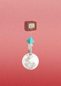Catballoon In Space van Maarten Stienstra