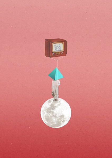 Catballoon In Space von Maarten Stienstra