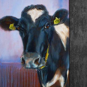 Schilderij, koe. (Foekje 38) van Alies werk