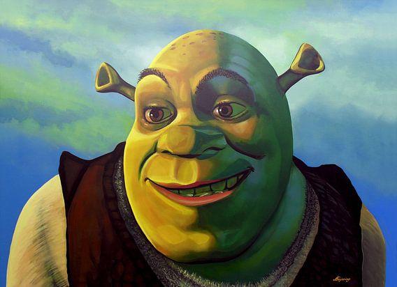 Shrek schilderij van Paul Meijering