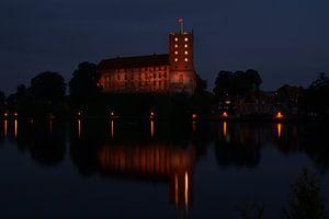 koldinghus in Kolding denemarken in de nacht