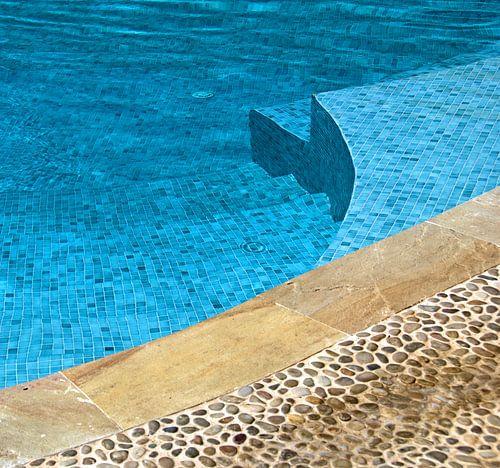 Aan de rand van het zwembad van Sigrid Klop