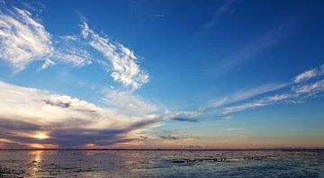 Zonsondergang Waddenzee von Ruud Lobbes